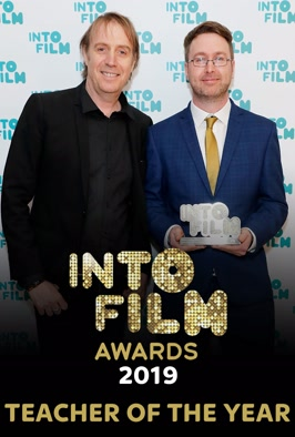 Into Film Awards 2019 of the Year: Rhys Roberts from Llanharan Primary in Wales won the Into Film Teacher of the Year award for his work using film in all areas of the curricu