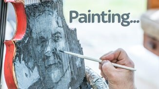 Painting... Mick Hucknall image