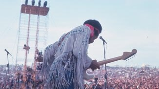 Jimi Hendrix At Woodstock image