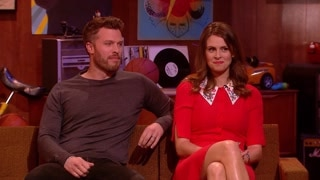 Rick Edwards and Ellie Taylor