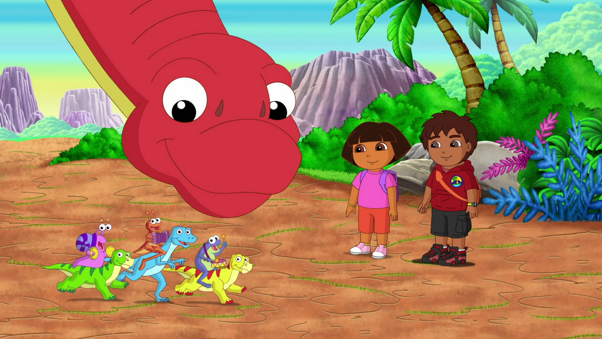 Dora and Diego in the Time of Dinosaurs