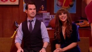 Jimmy Carr and Natasia Demetriou