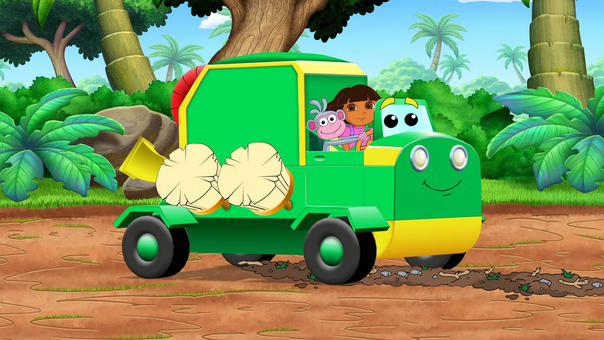 Dora's Clean-Up Truck Surprise