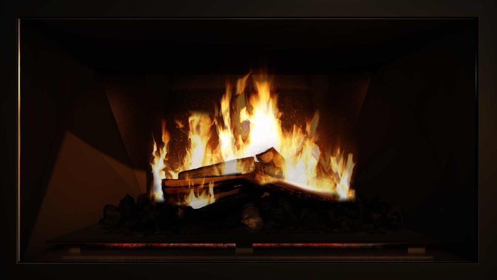 Roaring Fireplace
