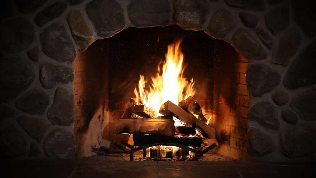 Flagstone Fireplace