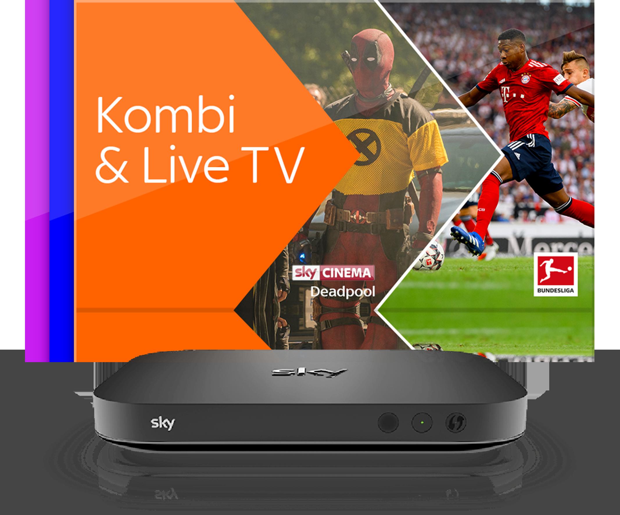 Kombi & Live TV und Sky X Streaming Box
