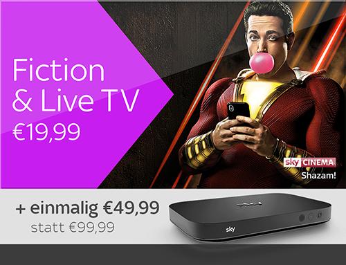 Fiction & Live TV und Sky X Streaming Box