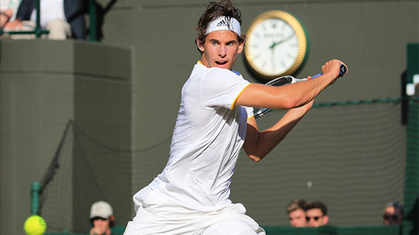 Dominic Thiem in Wimbledon mit Sky X streamen