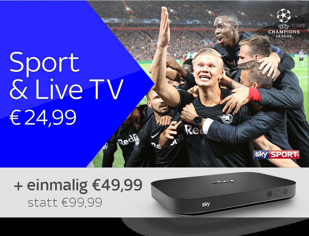 Sport & Live TV und Sky X Streaming Box