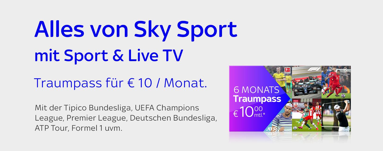 Traumpass + Sport & Live TV