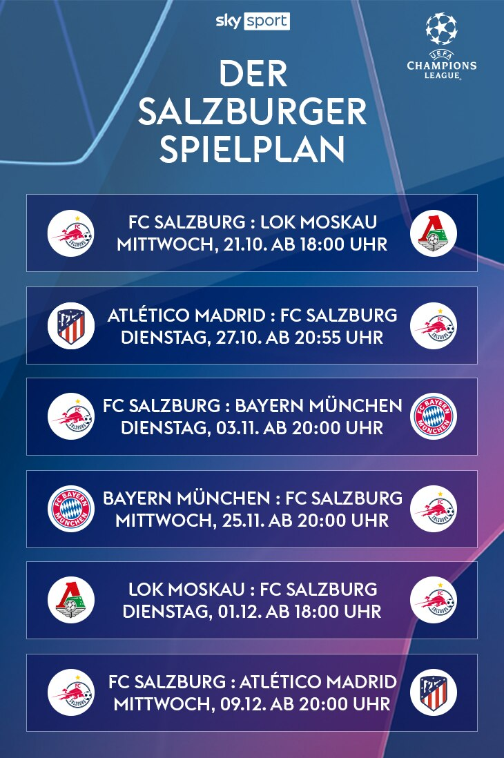 Der Salzburger Champions League Spielplan | Sky X