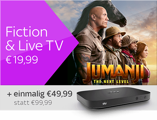 Fiction & Live TV und Sky X Streaming Box
