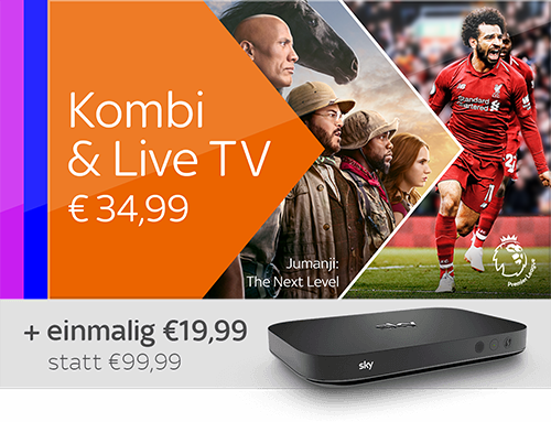 Kombi & Live TV und Sky X Streaming Box