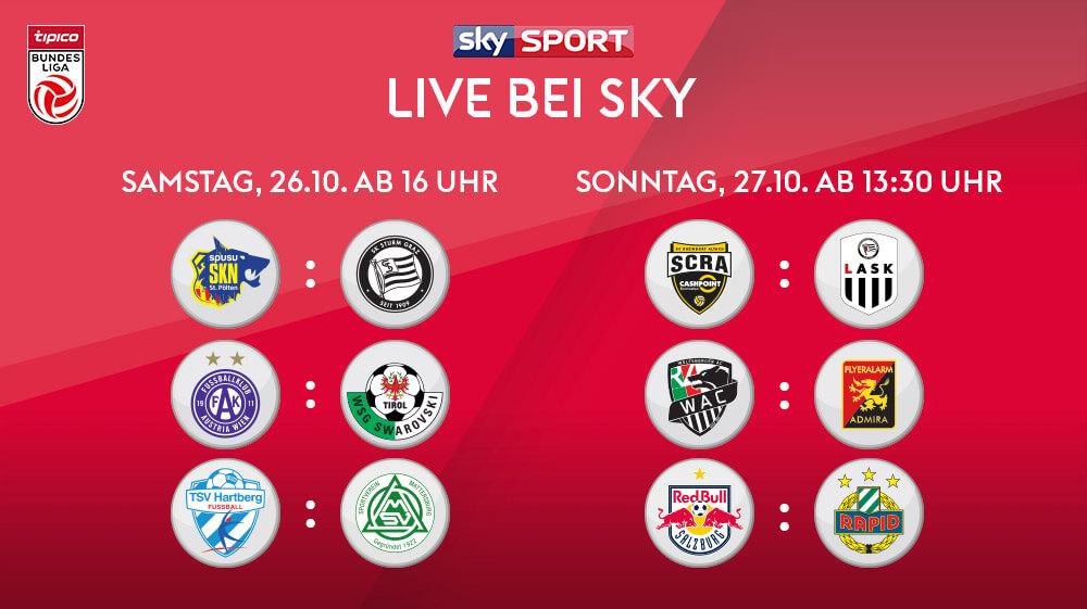 Die Tipico Bundesliga live streamen mit Sky X