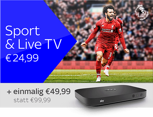 Sport & Live TV und Sky X Streaming Box