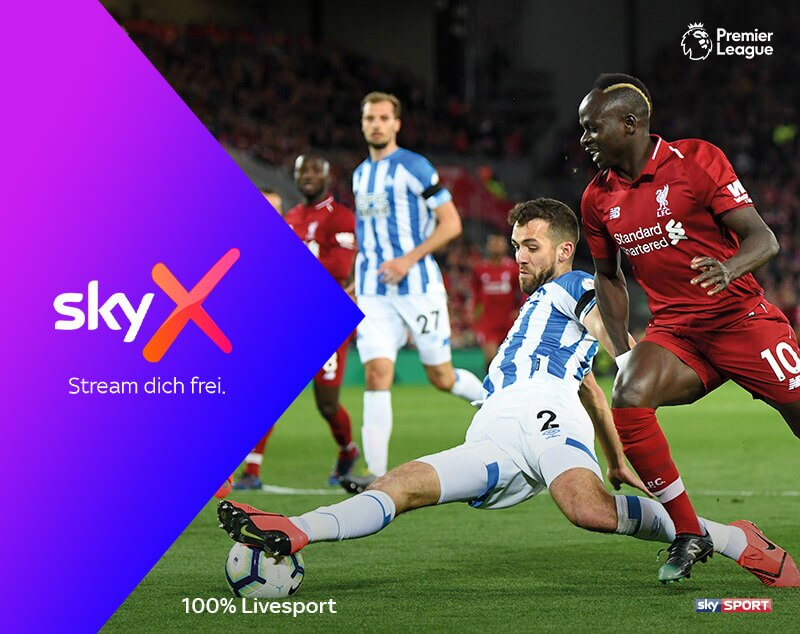 Sky X Live Sport | Fußball, Tennis, Formel 1, Golf