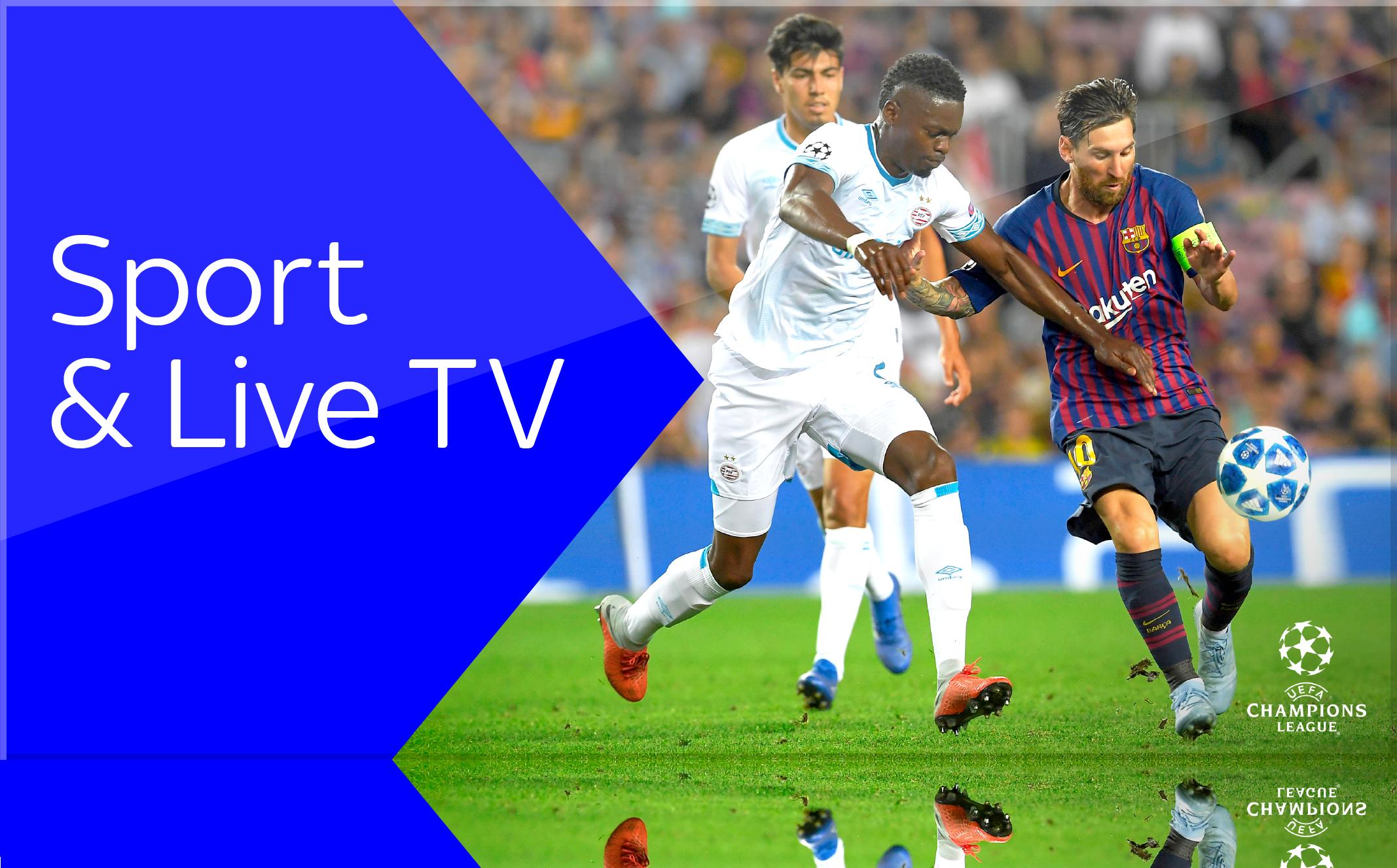 Sky X Sport und Live TV